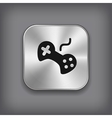 Video game icon - metal app button vector