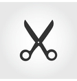 Scissors icon flat design vector