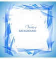 Blue abstract background with triangles vector