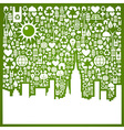 Go green city background vector