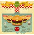 Hamburger and hot dogs vector