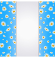 Summer background with blank paper card vector