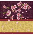 Background with sakura branch japanese cherry tree vector