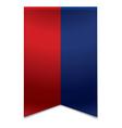 Ribbon banner - flag of liechtenstein vector