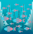 Glowing fish floating vector
