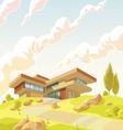Beautiful modern villa vector