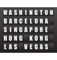Airport information board vector