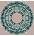 Set of round geometrical frames circle border vector
