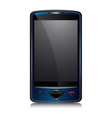 Cell smart phone blue vector