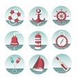 Icons on the marine theme vector