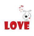 Love dog vector