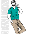 Fashion man vector