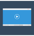 Flat video player vector