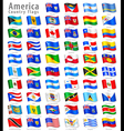 American waving flag set vector
