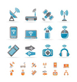 Wireless and communication technology icons vector