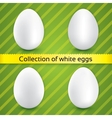 Happy easter white eggs collection vector