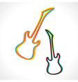 Abstract colorful guitar design vector