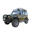 Uaz car suv camouflage colors vector