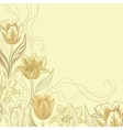 Flowers tulips vector