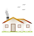 House and smoking chimney vector
