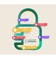 Lock icon infographic concept vector
