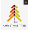 Minimal line design logo christmas tree icon vector