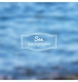 Blurred nature sea blue background vector