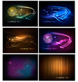 Big set of abstract technology backgrounds vector