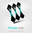 Private club business icon vector