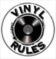 Vinyl rules background vector