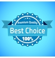 Best choice premium quality badge vector