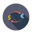 Currency exchange single icon vector