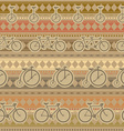 Retro bicycle pattern hipster background vector