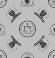 Set of vintage coffee themed monochrome labels vector