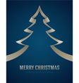 Christmas white tree from ribbon background vector