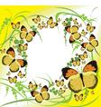 Butterflies spring vector