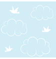 Birds cloud and blue sky vector