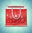 Christmas red shopping bag vector