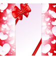 Paper banner with bow and ribbons vector
