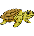 Sea turtle animal cartoon vector