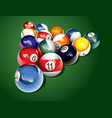 Billiard balls on the table vector