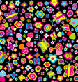 Childish background with flowers butterflies and vector