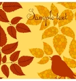Autumn card in retro style vector