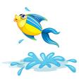 A fish at the sea vector