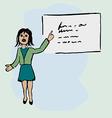 A woman giving a presentation vector