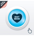 Best mom sign icon heart love symbol vector