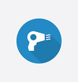 Hairdryer flat blue simple icon with long shadow vector