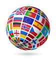 European flags globe vector