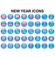 New year holiday icons vector