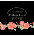 Floral greeting card with red roses vector